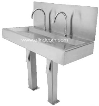 knee operated hands free industrial sink