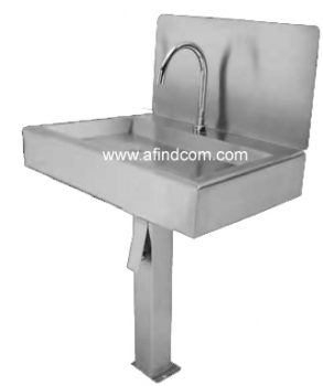 knee avtivated single bay hand wash basin free steel africa zambia food