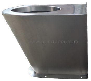 vandal resistant stainless steel toilet