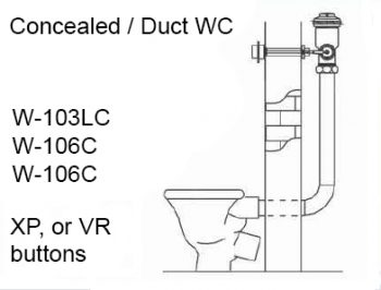 toilet duct flush valve installation diagram
