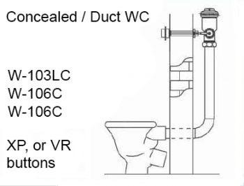 toilet duct flush valve installation diagram