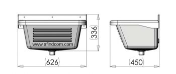 Plastic wash trough dimensions