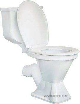 plastic close couple toilet integrated cistern