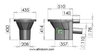 plastic toilet pan dimensions size