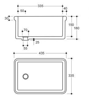 small vaal lab sink dimensions