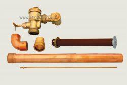 WC-104C-SS prison duct flush valve