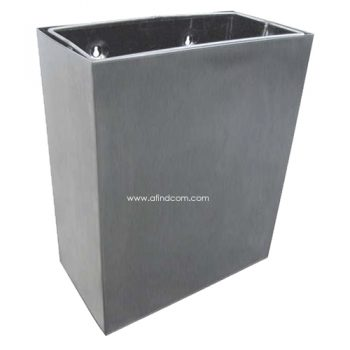 CL-00780 Econo wall mounted waste bin stainless steel 21 litre liter maunfacturer