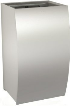 grade 304 stainless steel wall waste bin