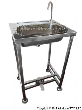 AF-FSWB-FV Free standing hands free foot operated basin