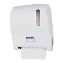 Auto-Cut manual paper towel dispener