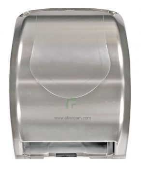 00136 Auto hands free paper roll satin silver dispenser