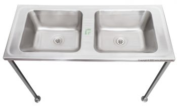 sirx002 double bowl wall mount wash trough