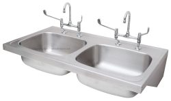 double bowl medical stainless steel ward sink 2620290