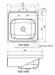 single bowl medical sink diagram dimensions