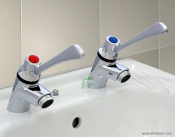 elbow action medical lever basin pillar taps