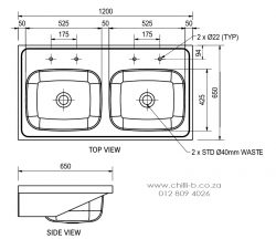 double bowl medical sink diagram dimensions